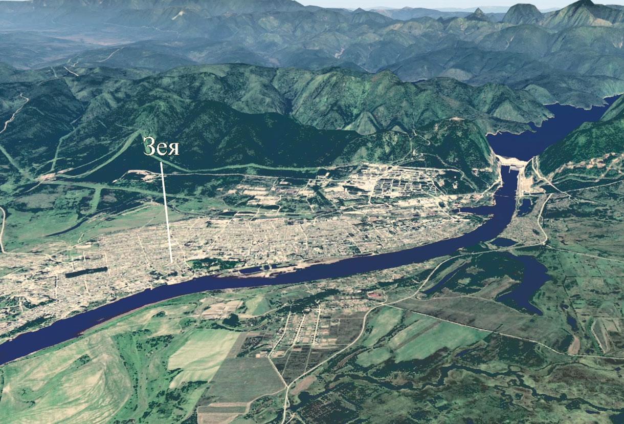 Карта города Зея.