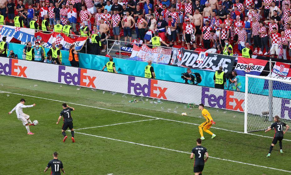 Альваро Мората поразил ворота хорватов в дополнительном тайме. Фото: Reuters