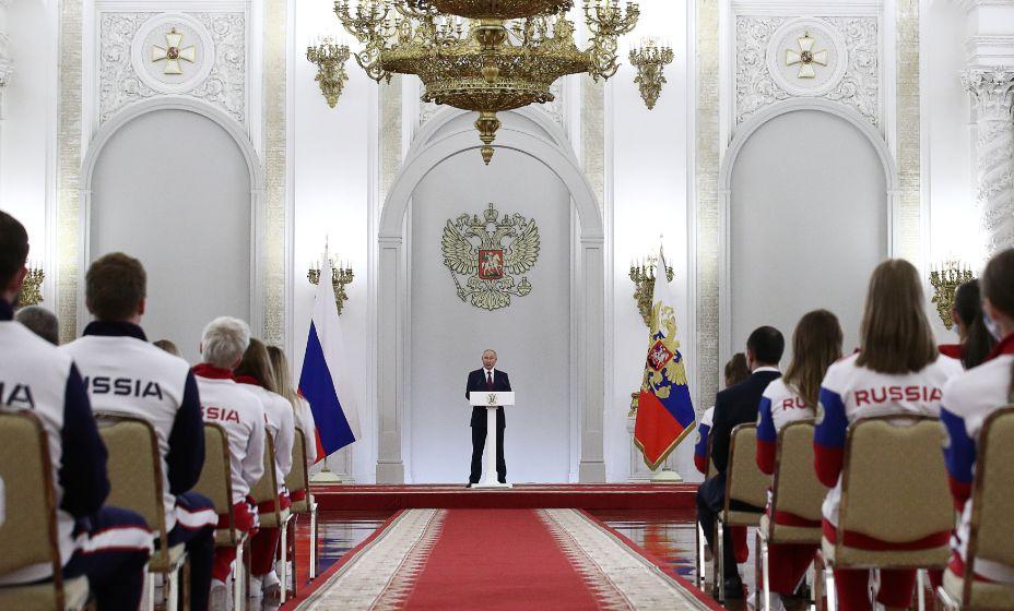 Владимир Путин встретился с олимпийцами после Игр-2020. Фото: Global Look Press
