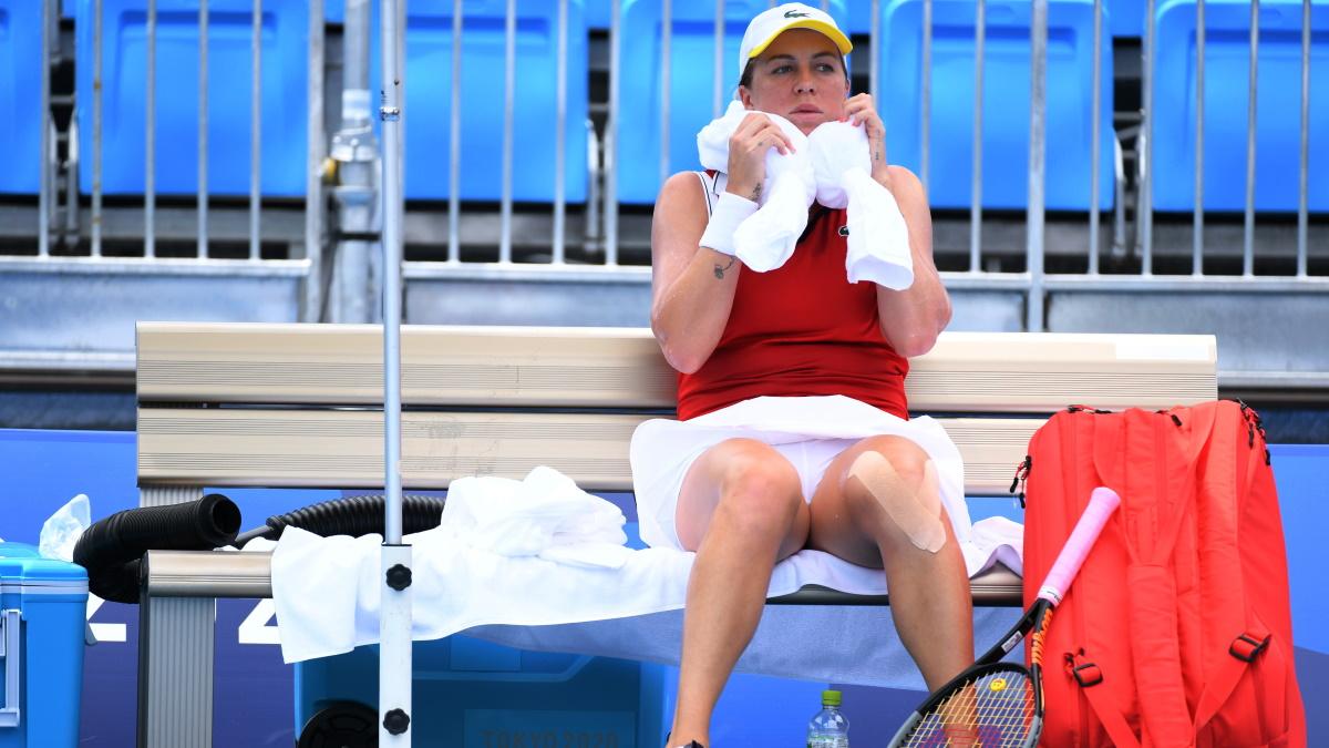 Анастасия Павлюченкова на теннисном турнире Олимпиады. Фото: REUTERS