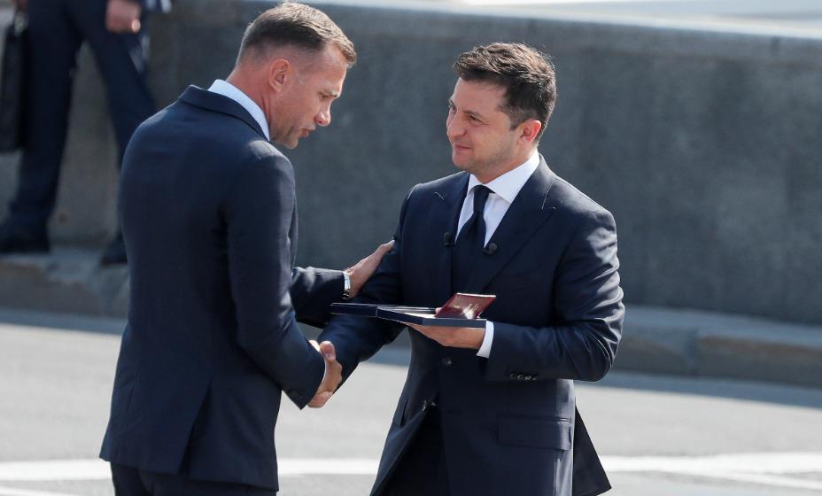 Бывший главный тренер сборной Украины по футболу Андрей Шевченко получил государственную награду. Фото: Reuters