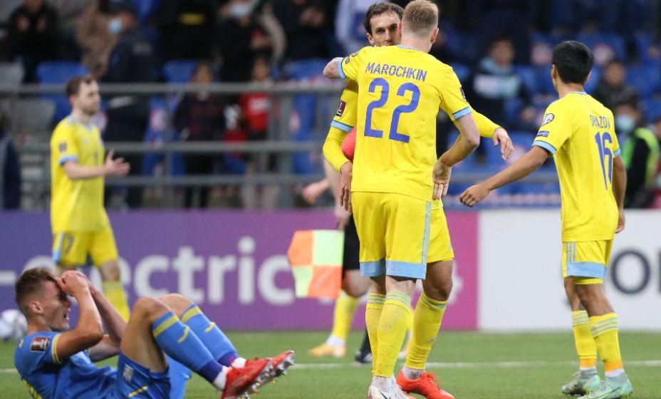 Украинцы не удержали преимущество в матче с Казахстаном. Фото: Reuters