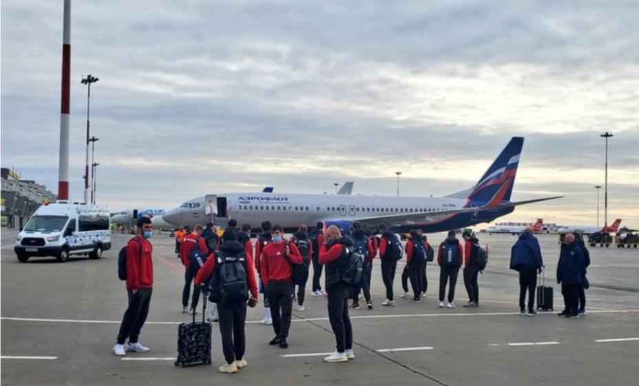 Сборная России по футболу вылетела в Словению. Фото: Twitter Team Russia
